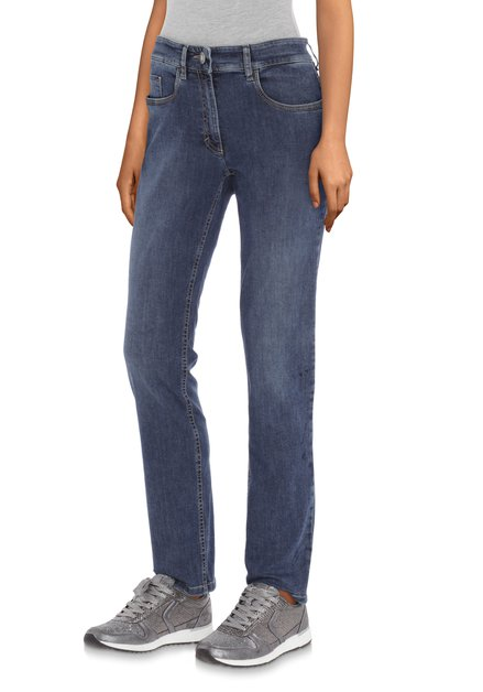Jeans bleu moyen - straight fit