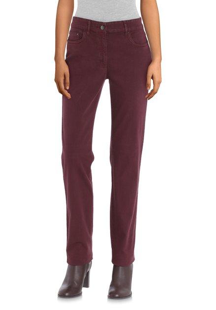 Jeans bordeaux - straight fit