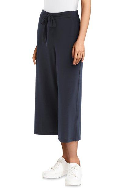 Jupe-culotte bleu marine avec un ruban à nouer