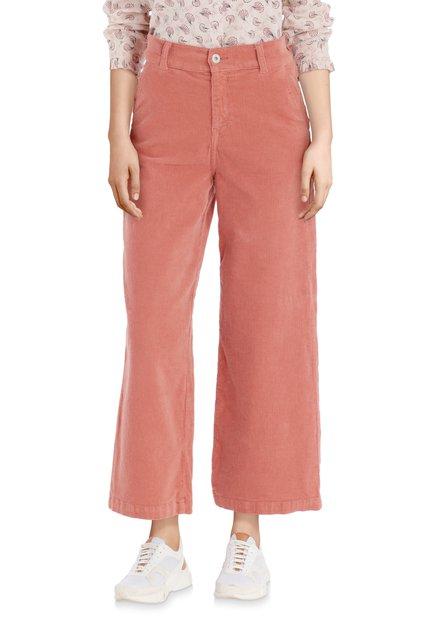 Jupe-culotte saumon côtelé rose
