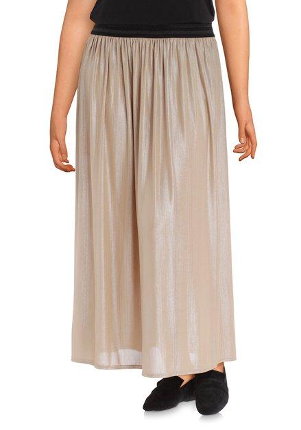 Jupe longue de couleur crème taille élastiquée