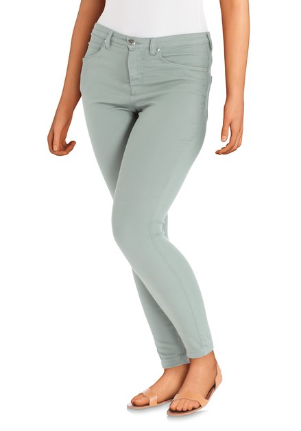 Kaki jeansbroek - slim fit