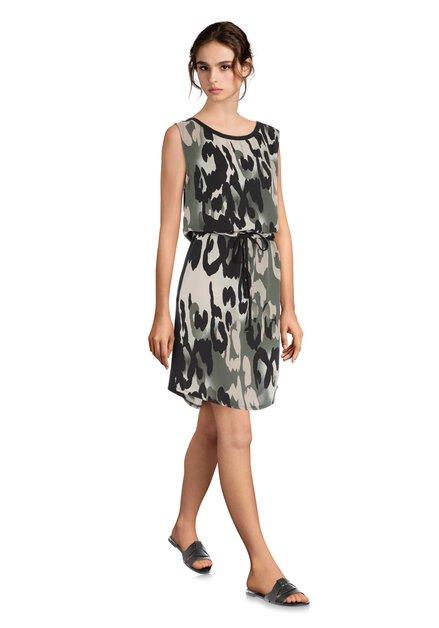 aa0d892eca57ec Kaki jurk met camouflageprint