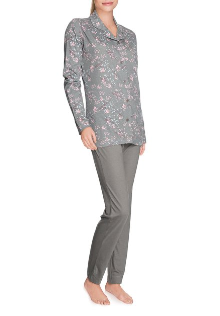 Kaki pyjama met bloemen