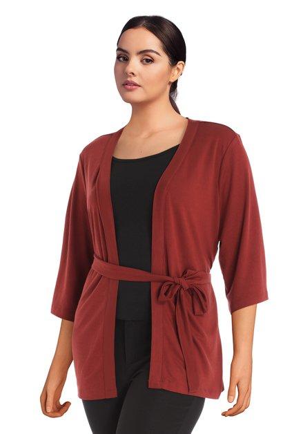 Kimono rouge brique