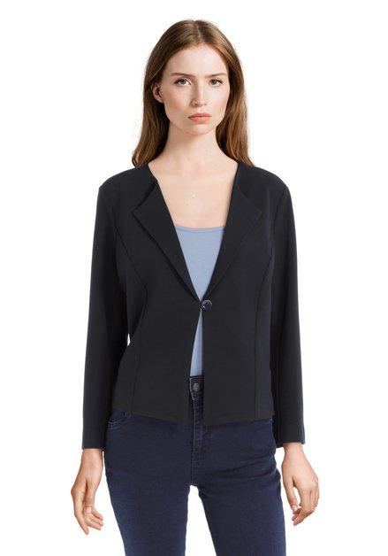 Klassieke donkerblauwe vest met knoop