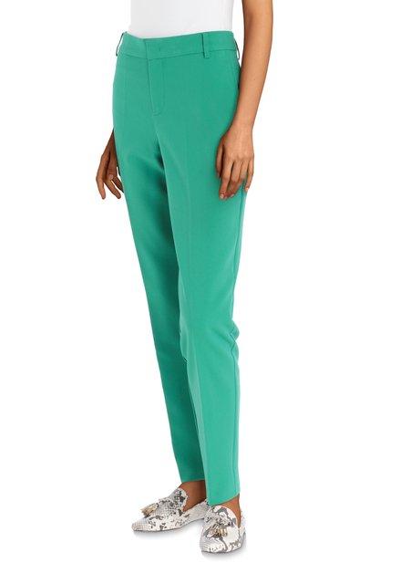 Klassieke groene broek met plooien
