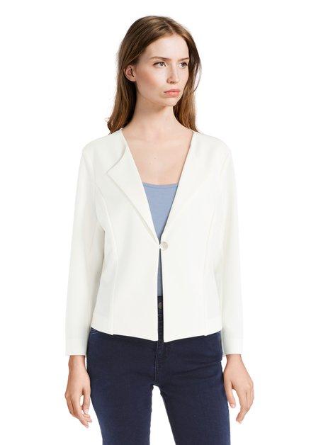 Klassieke witte vest met knoop