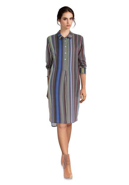 Kleed met kleurrijk streepjeseffect