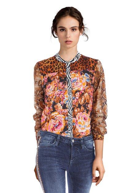 Kleurrijke blouse met bloemenprint
