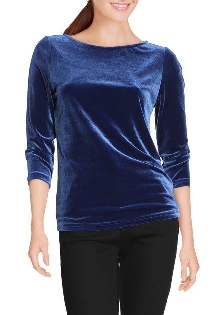 Koningsblauw fluwelen T-shirt