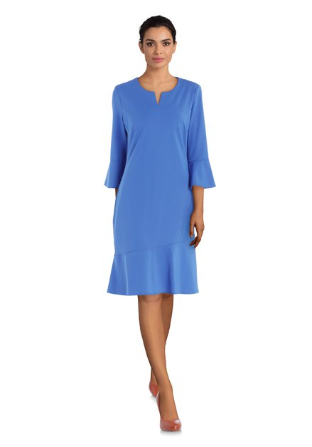 Koningsblauw kleed