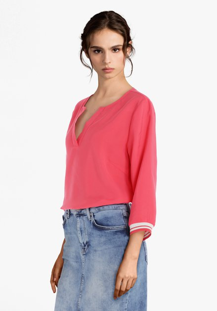 Koraalroze blouse in modal