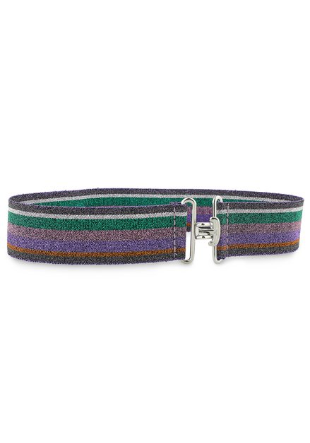 Large ceinture colorée à paillettes