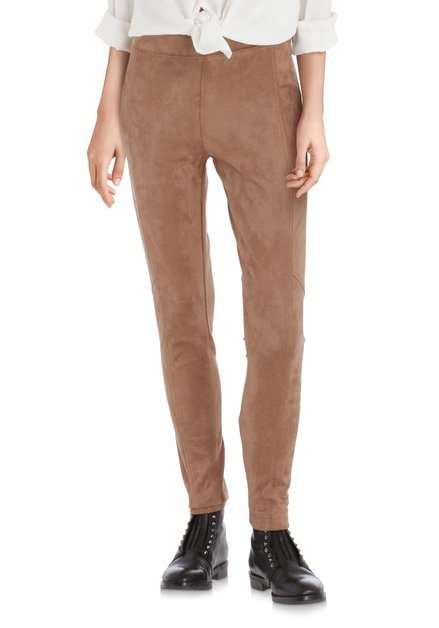 Legging marron en faux-daim