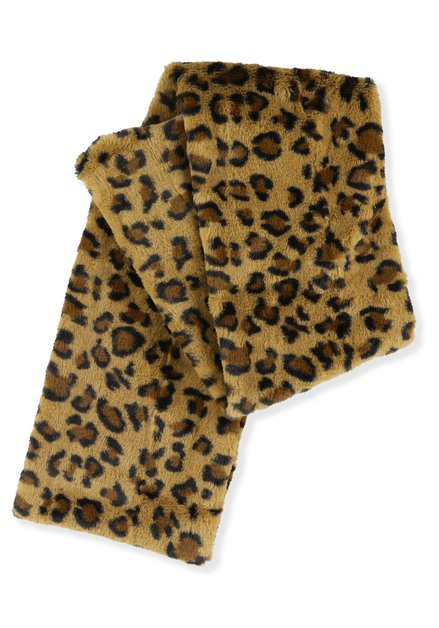 Leopard fake fur sjaal