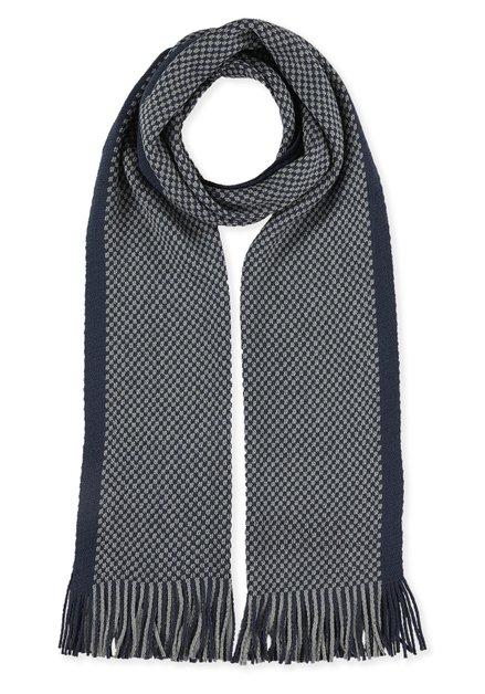 Licht- en donkerblauwe sjaal