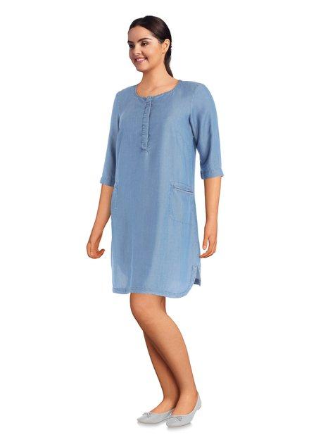 Lichtblauw denimkleedje met zakjes