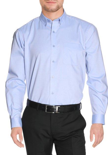 Lichtblauw effen hemd - comfort fit