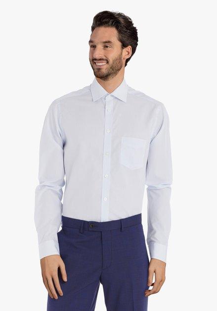 Lichtblauw gestreept hemd – regular fit