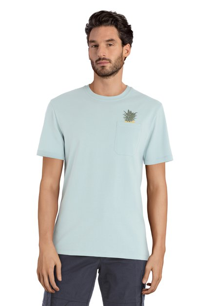 Lichtblauw T-shirt met ananas