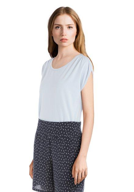 Lichtblauw T-shirt met ronde hals