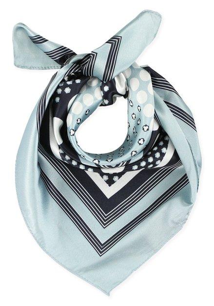 Lichtblauwe foulard met stippen