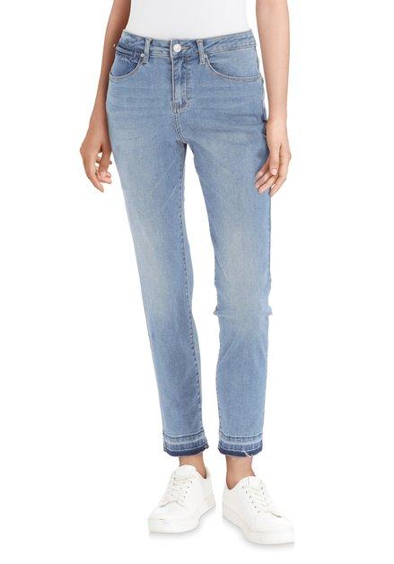 Lichtblauwe jeans met washing