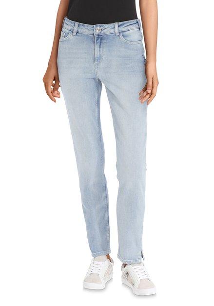 Lichtblauwe jeans met wassing – slim fit