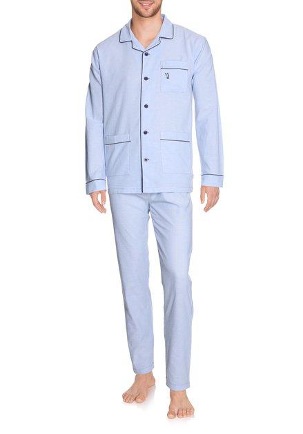 Lichtblauwe katoenen pyjama