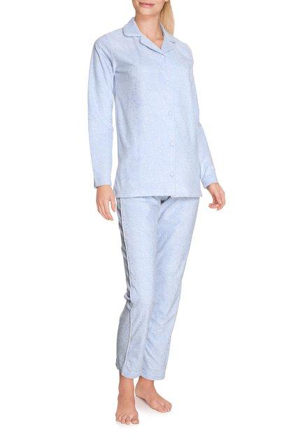 Lichtblauwe pyjama met zilverkleurig motiefje