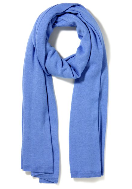 Lichtblauwe sjaal met kasjmier