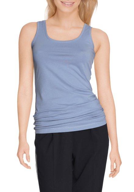 Lichtblauwe top in stretchkatoen