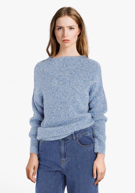 Lichtblauwe trui in tricot