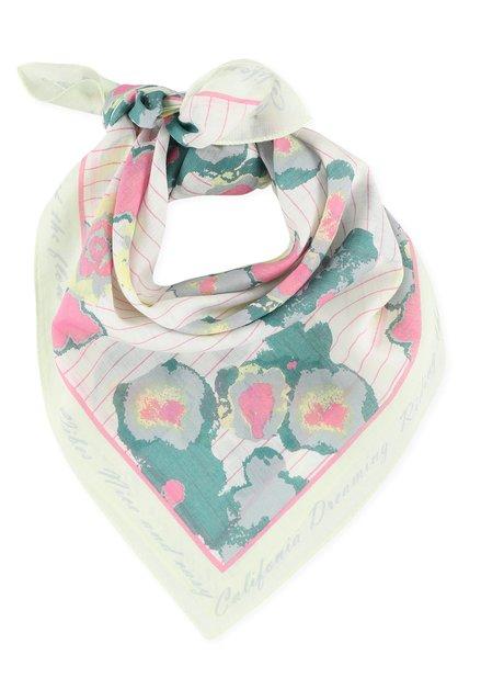 Lichtgele bandana met bloemen