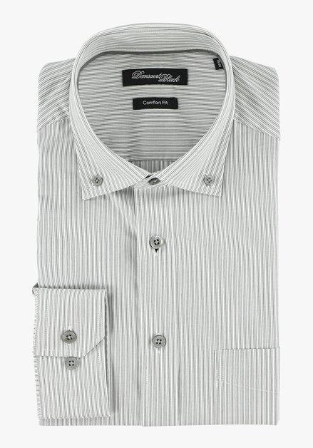 Lichtgrijs gestreept hemd – comfort fit