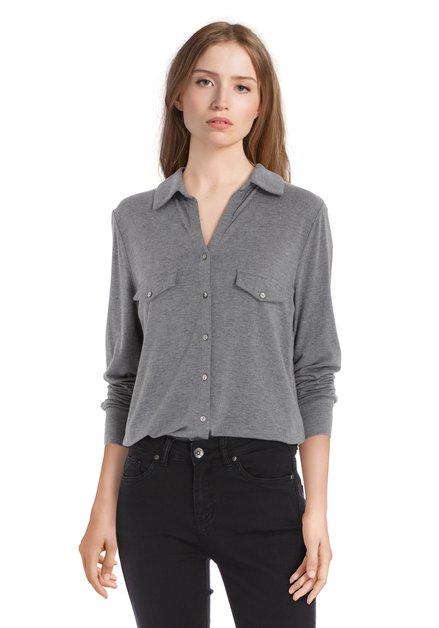 Lichtgrijze blouse in modal