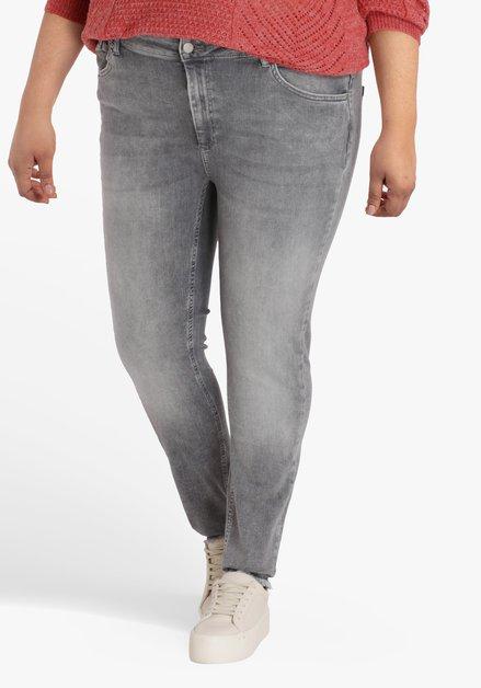 Lichtgrijze jeans - skinny fit - L32