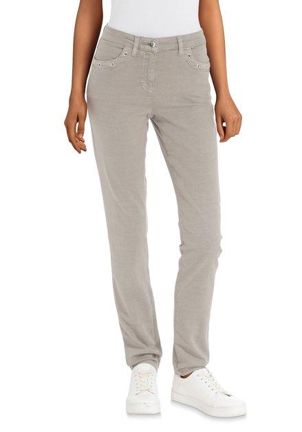 Lichtgrijze jeans - slim fit