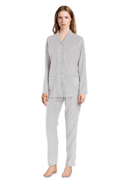 Lichtgrijze pyjama met gouden spikkel