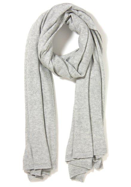 Lichtgrijze sjaal met kasjmier