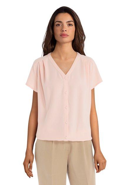 Lichtroze blouse met knopen