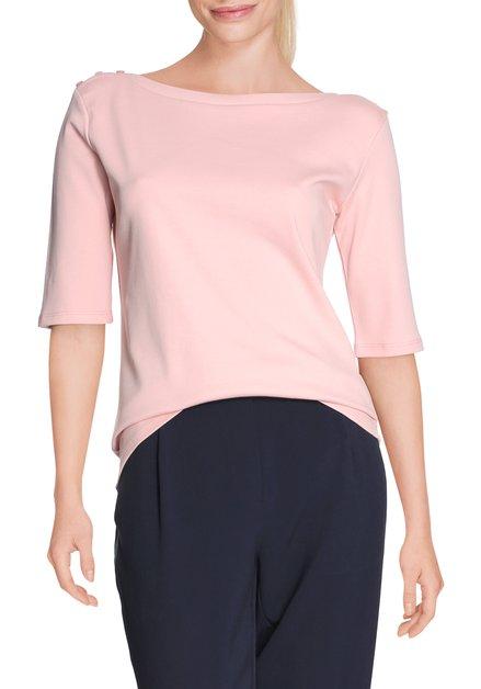 Lichtroze katoenen T-shirt