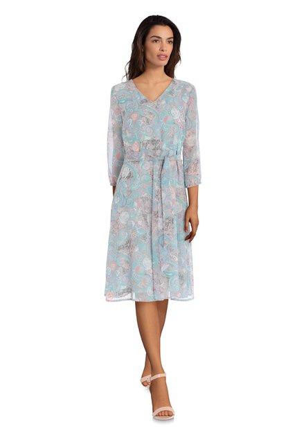 Lichtroze kleed met paisleyprint