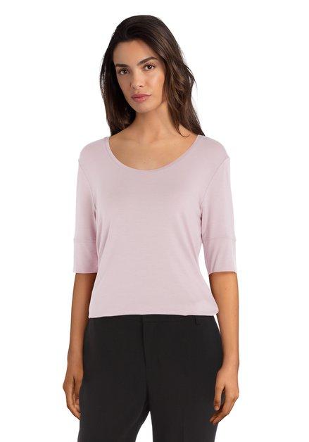 Lichtroze T-shirt in modal