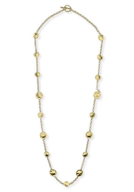 Long collier doré à ronds