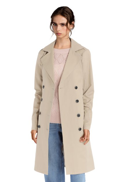 Long trench-coat beige