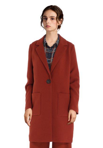 Longue veste brun rouille