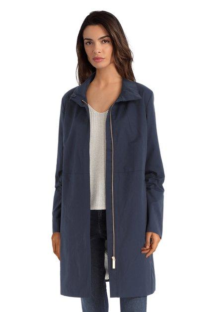 Longue veste imperméable bleu foncé