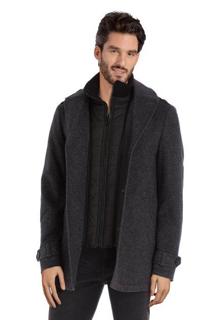 Manteau anthracite avec doublure amovible